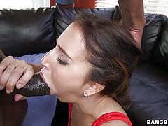 big tits, babe, interracial, beach, outdoor, blowjob, monster cock, brunette, bbc, monsters of cock, bangbros network, valerie kay