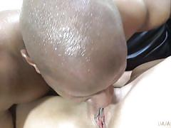 Big black cock destroying babe's vagina