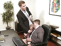 handjob, office, muscled, gay blowjob, gay anal, gay, at work, on the table, self fucking, the gay office, men.com, jimmy johnson, travis james