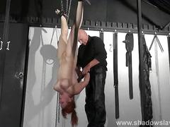 amateur, redhead, spanking, submissive, bdsm, bondage, vicky, and, whipping, hung, from, swedish, slavegirl, suspension, valkyries