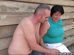 Mommies jitka and alena getting screwed outdoors