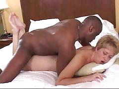 Hot blonde wife doggystyle with a black guy