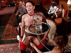 Jodi and sarah perform at john strong's sex party