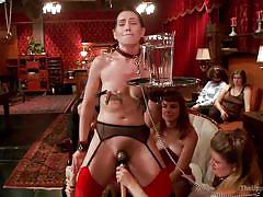 whip, bdsm, babe, stockings, blow job, sex show, sex toy, nipple clamps, sex slaves, the upper floor, kink, sarah shevon, jodi taylor, john strong