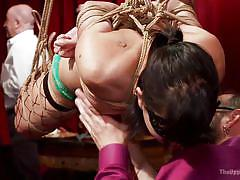blonde, bdsm, babe, hanging, orgy, stockings, mask, pussy licking, sex slaves, rope bondage, the upper floor, kink, rachael madori, cherie deville, bill bailey