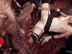 Savannah and amarna get fucked in a private party
