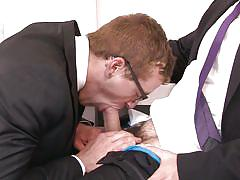 hairy, gay ass licking, ass grabbing, gay hunks, gay cock sucking, gay office, the gay office, men.com, jarec wentworth, jay austin
