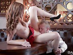 Young girl seduced in restaurant