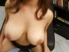 Perfect busty european fucked in a library