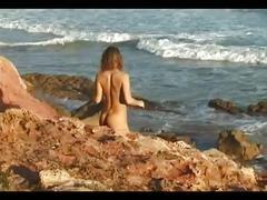 solo, beach, nude