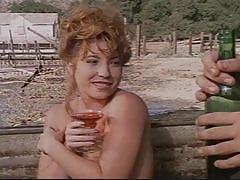 Couple fucking outside in a western vintage movie