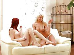 Watch kattie gold and lena love indulge in some hot lesbian sex