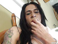 Isabella cruz touches herself all over in her home