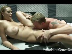 Hot blonde alexia rae sucked cock and get fucked