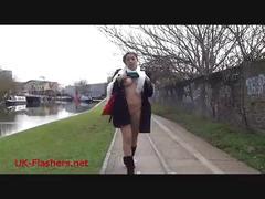 Dark beauty leias naughty flashing and outdoor amateur flashing of latina babe f