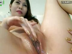 Asian soft masturbation