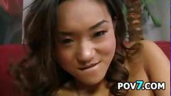Sexy asian wants a load of cum point of view
