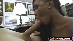 Busty black babe openning her wet dripping pussy