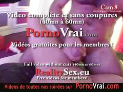 Spy cam at french private party! camera espion en soiree privee. part293