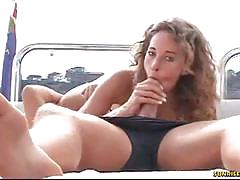Blonde slut sucks and gets fucked hard on a yatch