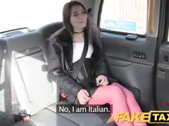 Fake taxi italian beauty gets deep anal sex