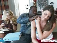 hardcore, interracial, pornstar, blowjob, suck, fuck, threesome, naughty-america, brooklyn-chase, aj-applegate