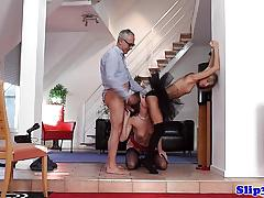 Doris ivy sucking cock in threesome