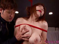 Soft bondage and group fuck for anri okita