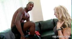 black, blonde, blowjob, hardcore, interracial, sucking, milf, more