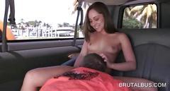 blowjob, handjob, hardcore, amateur, sucking, brunette, bus, jerking off, reality, wanking, more