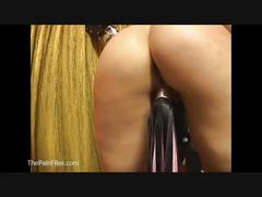 Lesbian domination and whipping of lezdom latina slavegirl in sexual exploitatio