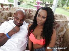 Tori taylor has a big black cock she has to tame
