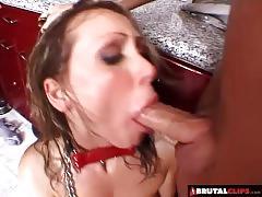 Teaching the bad slut a rough lesson
