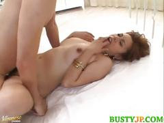 Sexy busty jun rukawa soaked in oil in threesome