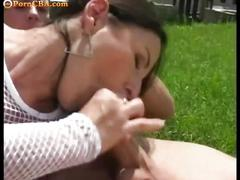 Outdoor picnic turned into a threesome quest