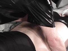 Tied up slave gets bdsm face fucked by daddy shadow