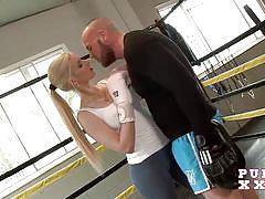 Pure xxx films horny teen fucks the boxing instructor