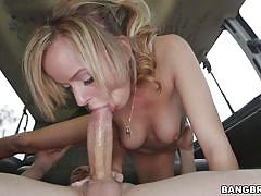 small tits, blonde, babe, bang bus, blowjob, car sex, reverse cowgirl, pov, sex for money, bang bus, bangbros network, pristine edge