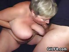 Chubby russian granny titty fucking