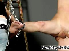 Blowjobs gay the smoking authoritative stud embarks off with hammering the chained up