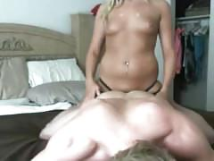 Fucking my perfect boyfriend with a strapon