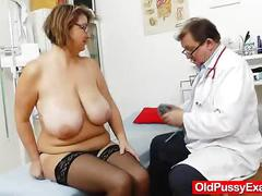 pussy, brunette, uniform, nurse, vagina, speculum, naughty, hospital, internal, enema, closeups
