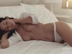 hot, sexy, brunette, rubbing, masturbating, solo, czech, close-up, orgasm, sensual, pleasure, perky-tits, puffy-nipples, joymii