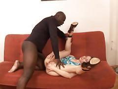 hardcore, interracial, anal, ass-fuck, ass-fucking, shaved, skinny, small-tits, bbc, black, gaping, heels, blowjob, bj, cumshot, facial, fingering