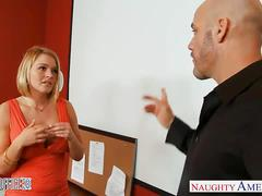 Blonde office babe krissy lynn gets nailed
