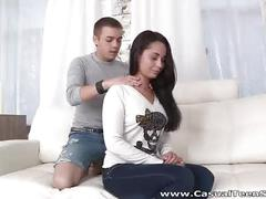 Casual teen sex - hot sex after shoulder massage