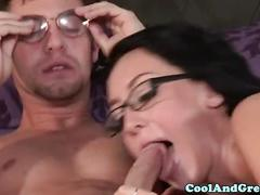Pierced sabrina banks in fishnet facialized