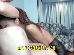 Buggered doggy style tattooed asian country girl