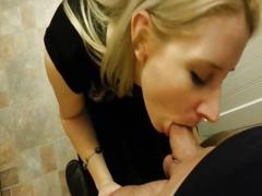 Pretty blond girl loves facials