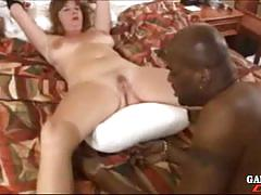 Dee got all tied up in the bed and face fucking
